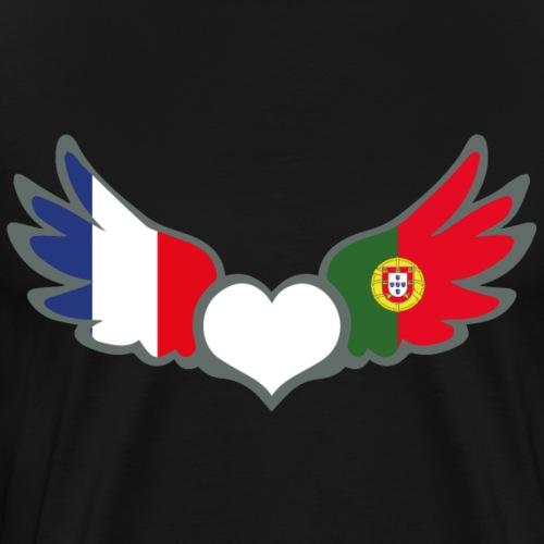 Drapeaux Français et Portugais France Portugal II - T-shirt Premium Homme