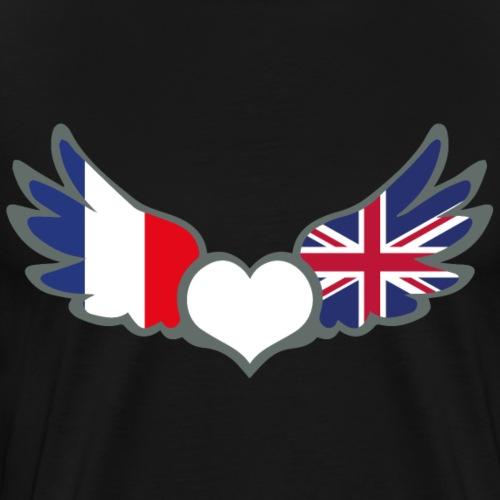 Drapeaux Français et anglais France Royaume Uni II - T-shirt Premium Homme