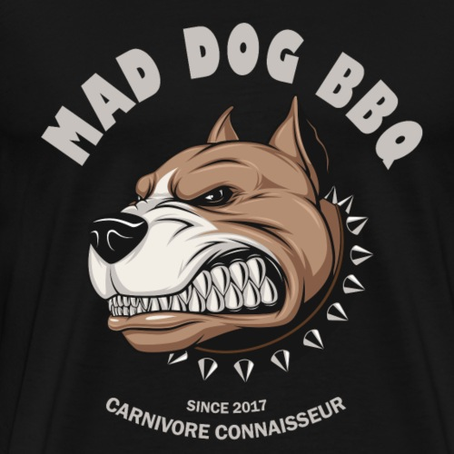Mad Dog Barbecue (Grillshirt) - Männer Premium T-Shirt
