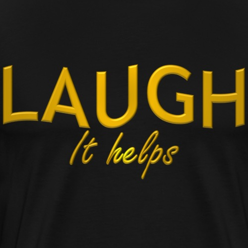 LAUGH it helps - Men's Premium T-Shirt