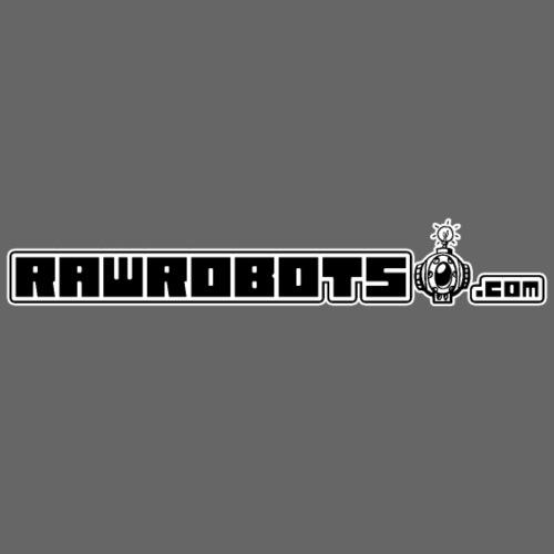 Logo RawRobots (Black Long) - Herre premium T-shirt