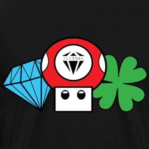 ILG Mushroom - Maglietta Premium da uomo