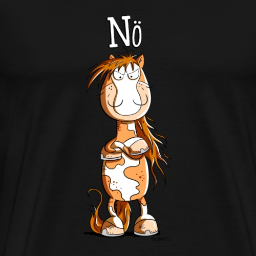 Nö Pferd I Einfach Nö Tiermotiv - Männer Premium T-Shirt