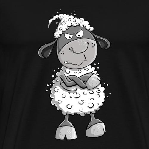 Nö Schaf I Nein Statement Comic Tiermotiv Fun - Männer Premium T-Shirt