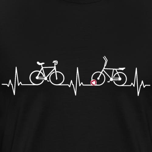 Heart Monitor Kunstrad & Radball - Männer Premium T-Shirt