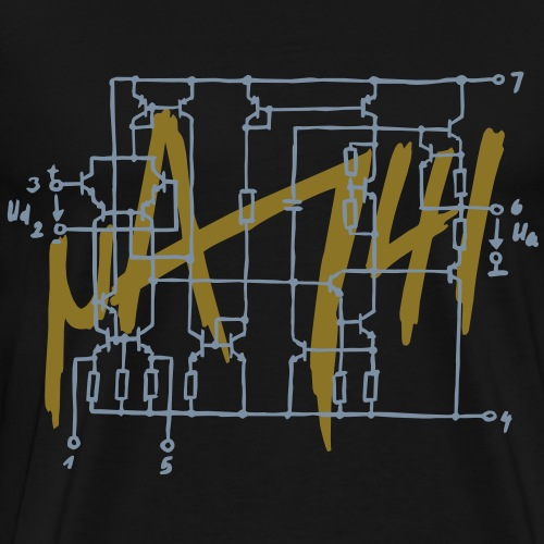uA741 Operationsverstärker Schaltplan - Männer Premium T-Shirt