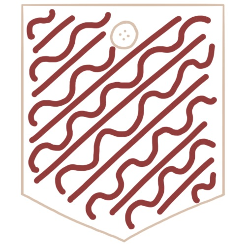 Burgundy Waves_Pocket - Männer Premium T-Shirt