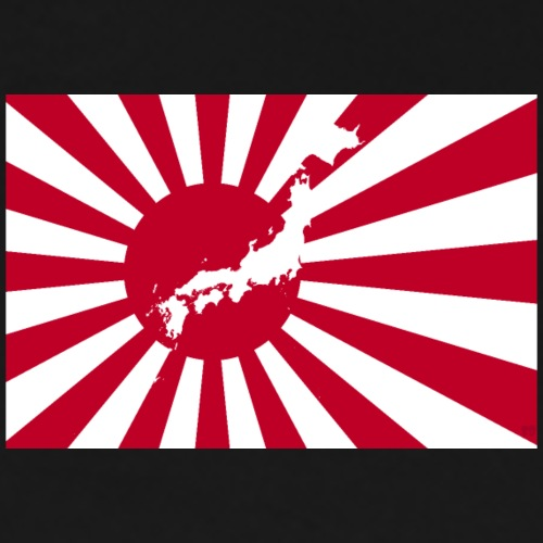 Nippon Flag with Map - by SBDesigns - Men's Premium T-Shirt