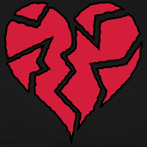 Flickering Broken Heart <3 - Men's Premium T-Shirt