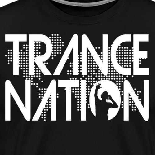 Trance Nation (White) - Premium-T-shirt herr