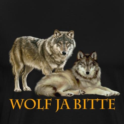 Wolf ja Bitte 3 png - Männer Premium T-Shirt