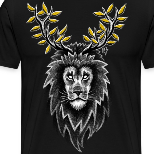 Deer Lion - Men's Premium T-Shirt