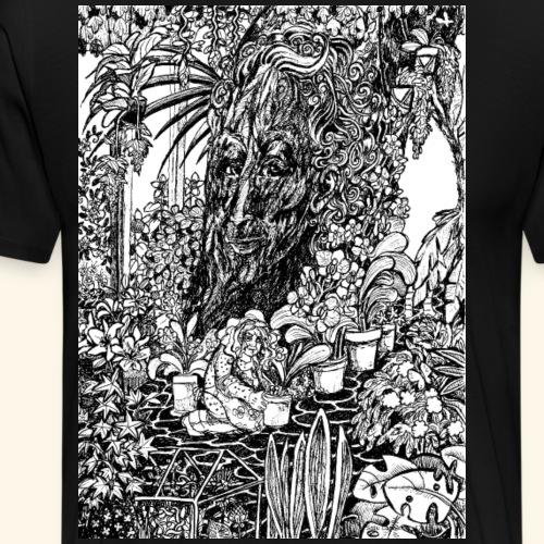 Old tree in the garden - Miesten premium t-paita