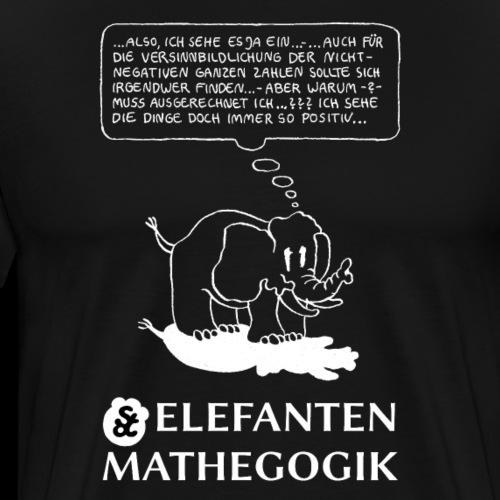 ELEFANTENMATHEGOGIK: NEGATIVOTROETER (1) [Graust.] - Männer Premium T-Shirt