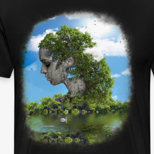 Land of Id - Premium-T-shirt herr