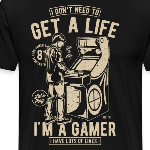 Games Gamer Geschenk Geschenkidee - Männer Premium T-Shirt