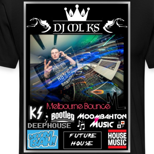DJ ML KS Denmark - Herre premium T-shirt