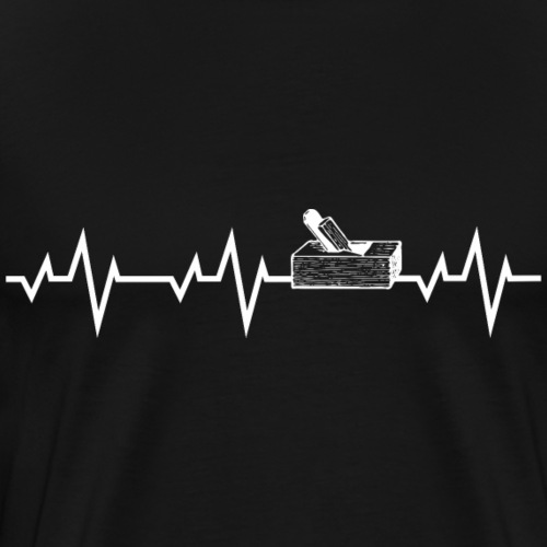 Herzschlag Heartbeat Tischler Schreiner Shirt Gesc - Männer Premium T-Shirt