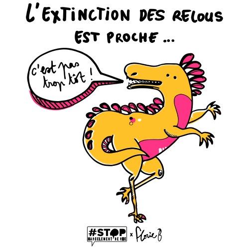 L'extinction des relous - Dino Jaune - T-shirt Premium Homme