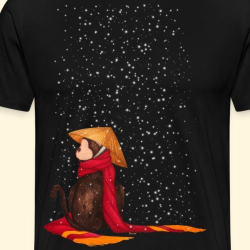 Un singe en hiver sous la neige - T-shirt Premium Homme