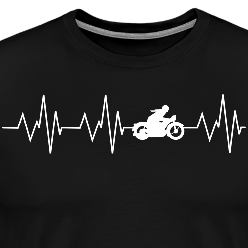 Heartbeat Motorcycling - Men's Premium T-Shirt