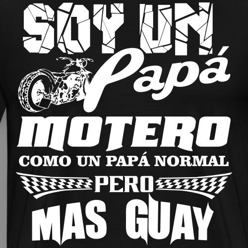 Soy un papá motero - Camiseta premium hombre