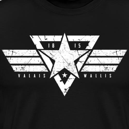 VALAIS WALLIS STAR - Männer Premium T-Shirt