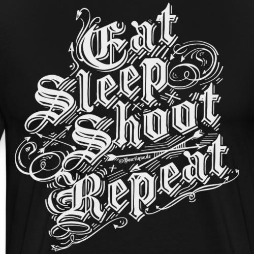 Eat Sleep Shoot Repeat BLW (Archery by BOWTIQUE) - Männer Premium T-Shirt