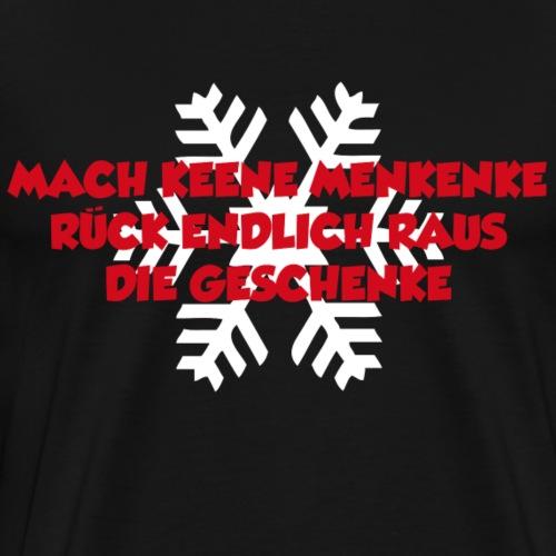 Menkenke Schrift rot - Männer Premium T-Shirt