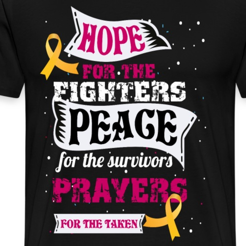 hope for the fighters peace - Men's Premium T-Shirt