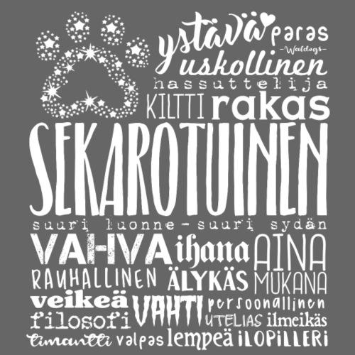 Sekarotuinen Sanat V - Miesten premium t-paita