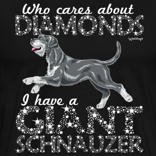 Giant Schnauzer Diamonds2 - Men's Premium T-Shirt