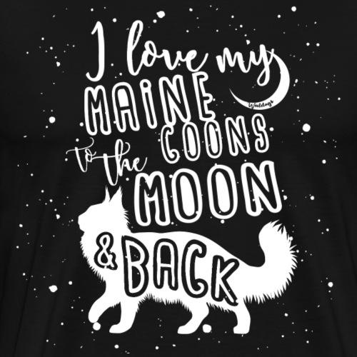Maine Coon Moon - Miesten premium t-paita