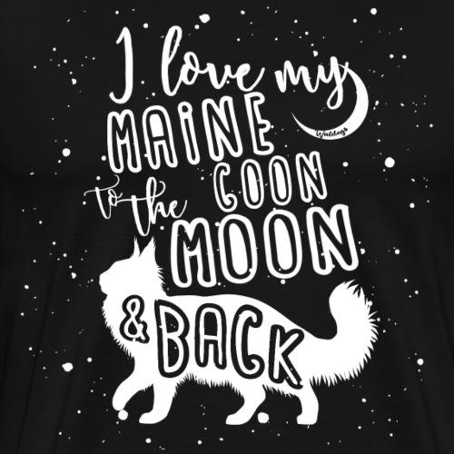 Maine Coon Moon 2 - Miesten premium t-paita