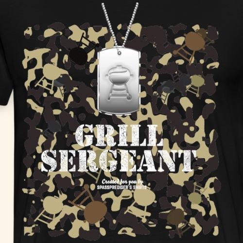 Grill Tshirt Design Grill Sergeant Grillen T-Shirt - Männer Premium T-Shirt