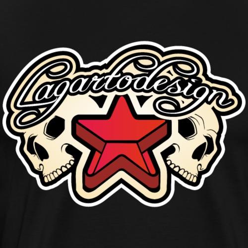 STARS SKULL - Camiseta premium hombre