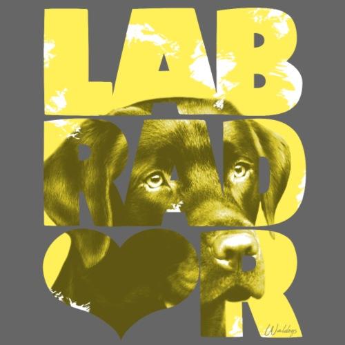 NASSU Labrador Brown I - Miesten premium t-paita