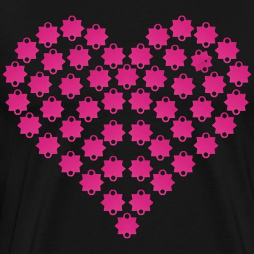 Schießbuden Herz Pink - Männer Premium T-Shirt