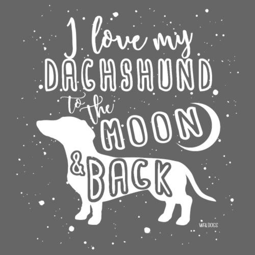 Dachshund Smooth Moon - Miesten premium t-paita