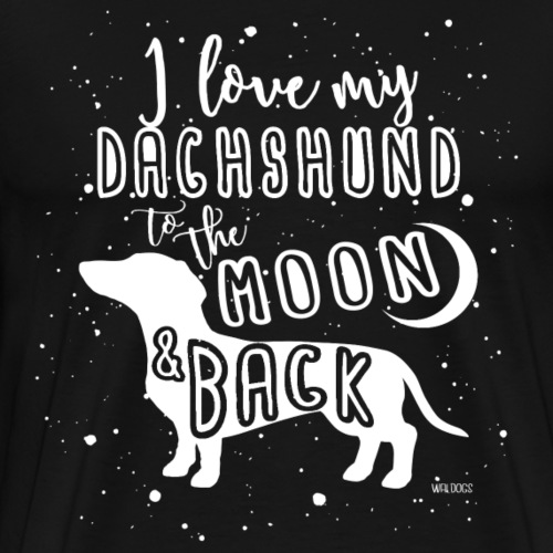 Dachshund Smooth Moon - Men's Premium T-Shirt