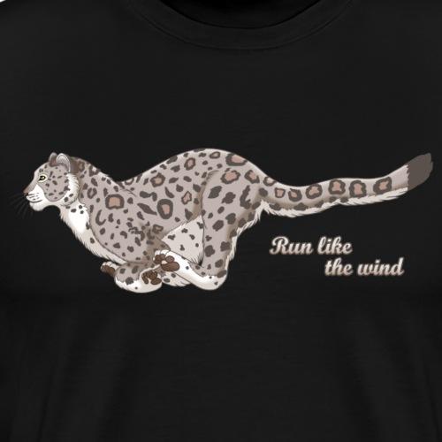Snow Leopard Running - Men's Premium T-Shirt