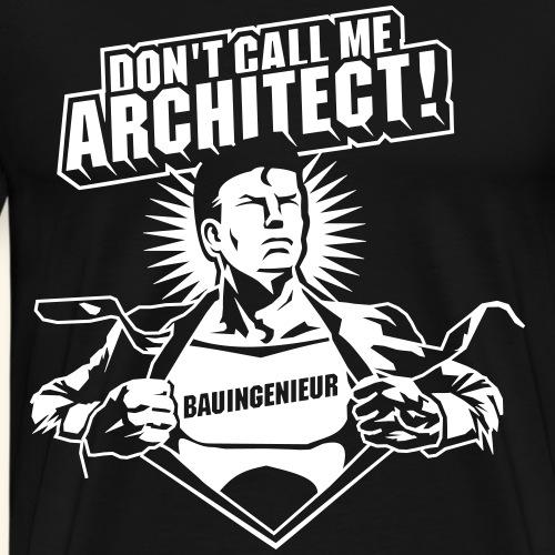 BauingenieurSuperheld lustiger Spruch - Männer Premium T-Shirt