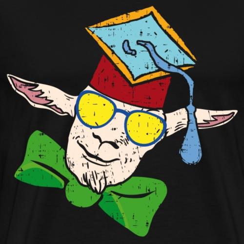 Doktor Ziege | Ziege mit Doktorhut - Männer Premium T-Shirt