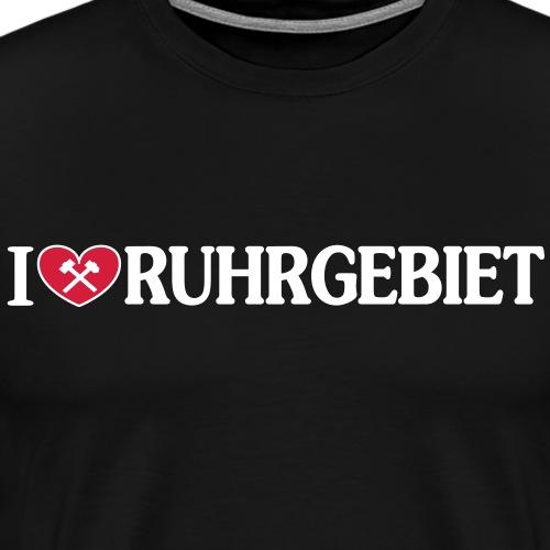 I love Ruhrgebiet mit Schlägel und Eisen - - Männer Premium T-Shirt