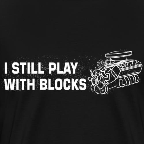 Play with Blocks Mechaniker Shirt Geschenk - Männer Premium T-Shirt