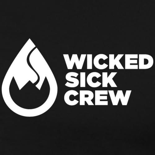 Wicked Sick Crew Logo weiß - Männer Premium T-Shirt