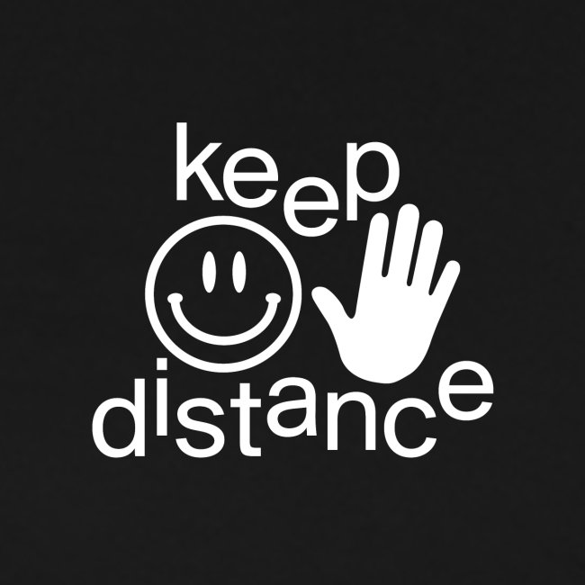 keep distance Classic Tee black