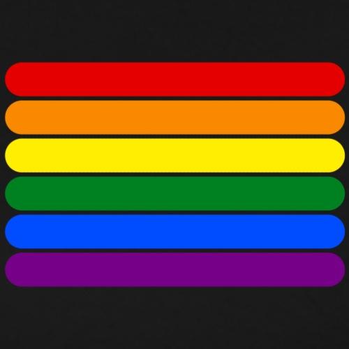 Rainbow Stripes - Men's Premium T-Shirt