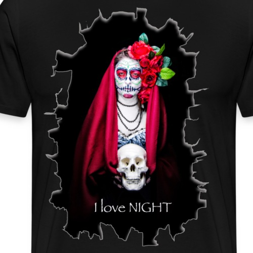 Catrina I Love Night - Rotura - Camiseta premium hombre