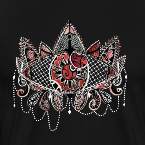 Oeil dentelle Rouge Version Noir - T-shirt Premium Homme